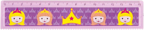 Lineal Prinzessin - Packung 60 Lineale 15 cm von MirusMix