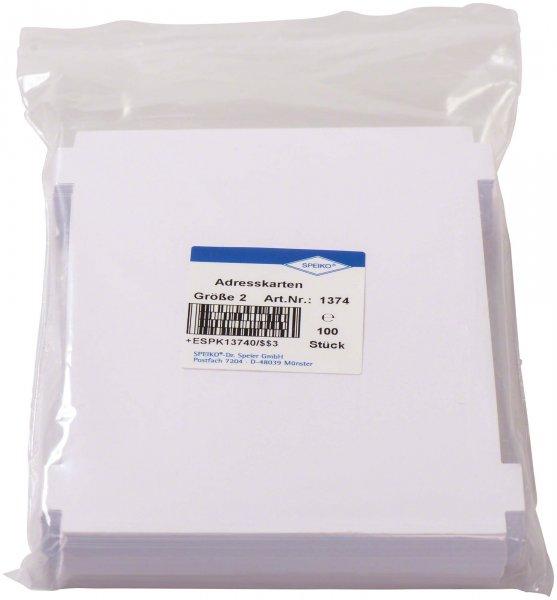 Adresskarten - Packung 100 Karten Größe 2 von Speiko