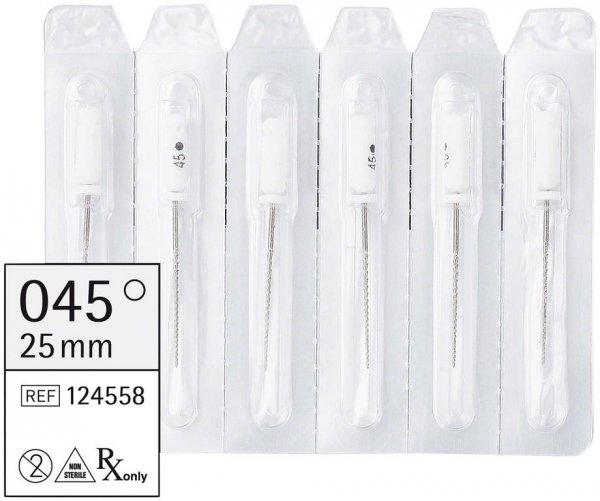 smart Hedstroemfeilen - Packung 6 Stück 25 mm ISO 045 von smartdent