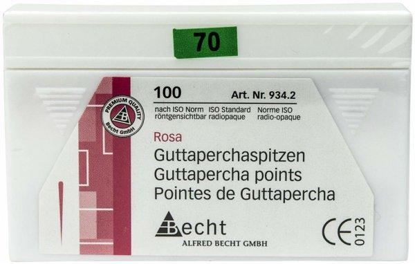 Guttaperchaspitzen rosa - Packung 100 Stück ISO 070 von Becht