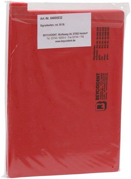 Signalkarten A5 - Packung 50 Karten rot von Beycodent