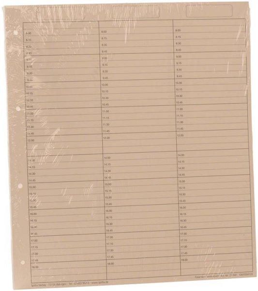 Einlageblätter 3-spaltig mit Pause - Packung 50 Blatt reißfestes Papier von Spitta Verlag