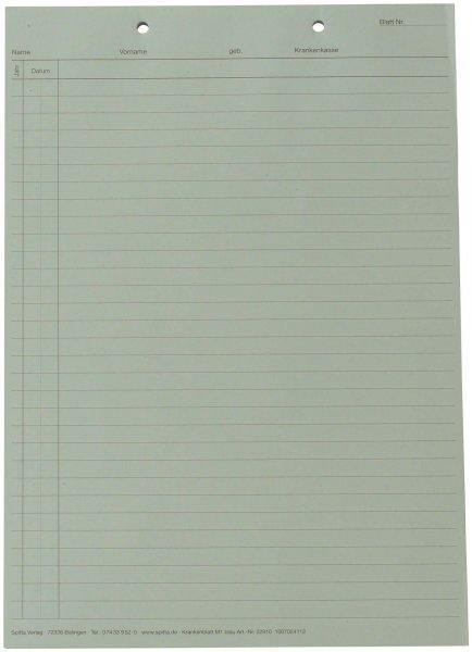 Krankenblatt M1 - Block 100 Blatt blau, kopfgelocht, A5 von Spitta Verlag