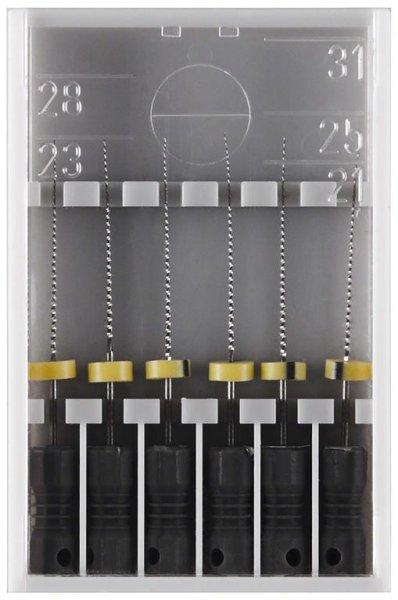 K-Feile 173 - Packung 6 Stück 25 mm, ISO 008 von Edenta