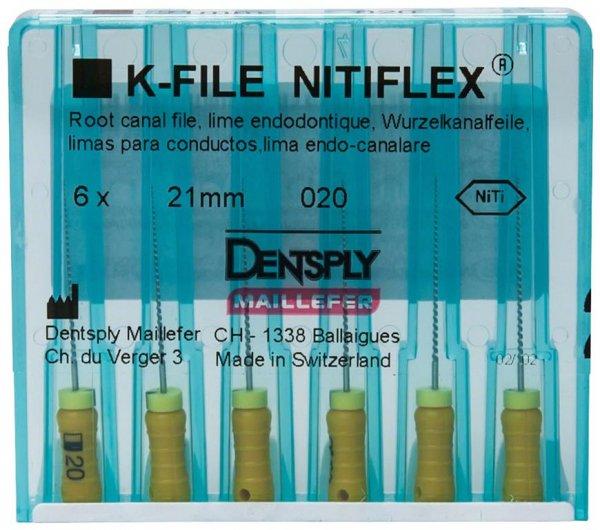 File NiTiflex - Packung 6 Stück 21 mm ISO 020 von Dentsply Sirona