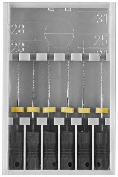 Hedströmfeilen 174 - Packung 6 Stück schwarz, 25 mm ISO 008 von Edenta