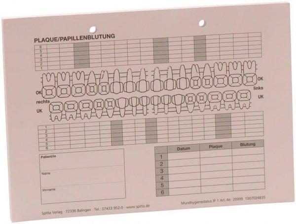 Mundhygienestatus für IP1 - Block 100 Blatt von Spitta Verlag