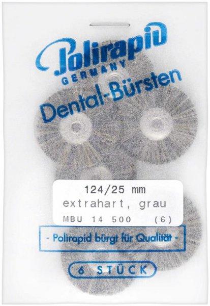 Miniaturbürste - Packung 6 Bürsten, Borste extrahart, Ø 25 mm, unmontiert von Polirapid