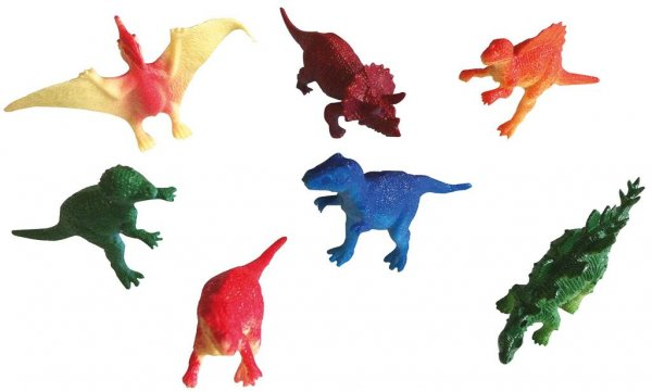 Spielfiguren - Displaybox 144 Dinosaurier, verschiedene Typen und Farben von MirusMix
