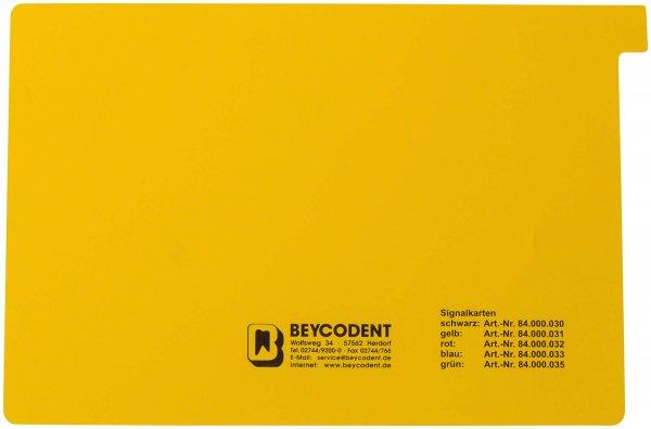 Signalkarten A5 - Packung 50 Karten gelb von Beycodent