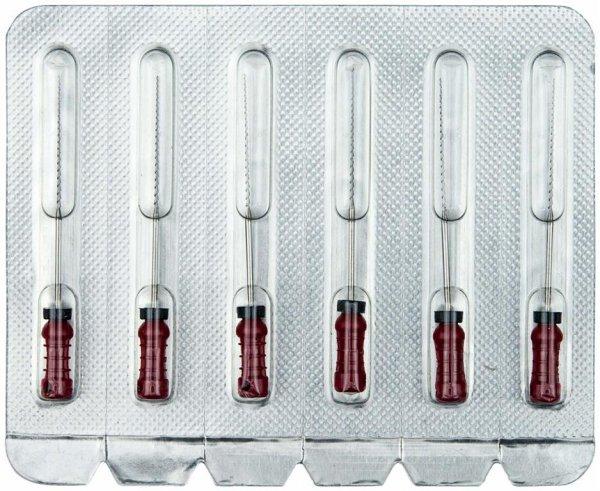 Hedstroemfeilen - Packung 6 Stück 31 mm ISO 025 von OMNIDENT