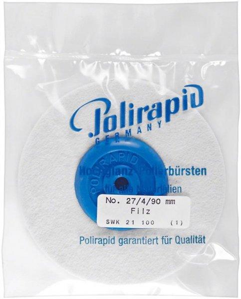 Filzschwabbel - Stück 4-lagig, 27/4/90 mm von Polirapid