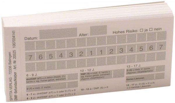 Befundaufkleber - Block 100 Befundaufkleber DMF von Spitta Verlag