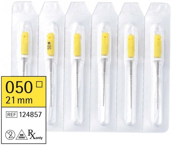 smart K-Feilen - Packung 6 Stück 21 mm ISO 050 von smartdent