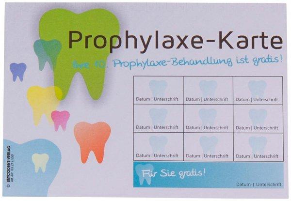 Prophylaxe-Karteikarte - Packung 100 Karten von Beycodent