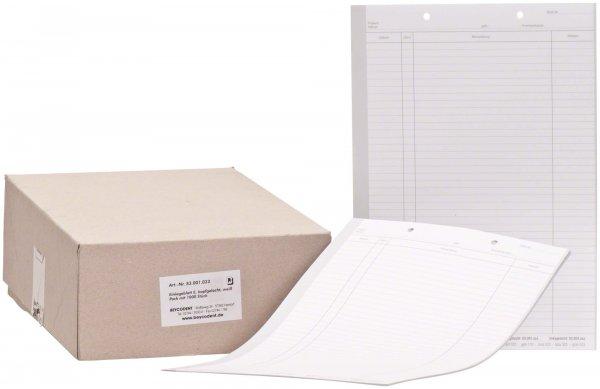 Einlegeblatt - Packung 1.000 Blatt weiß E, kopfgelocht von Beycodent