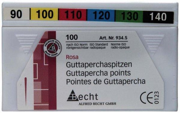Guttaperchaspitzen rosa - Sortimenrt 100 Stück ISO 090-140 von Becht