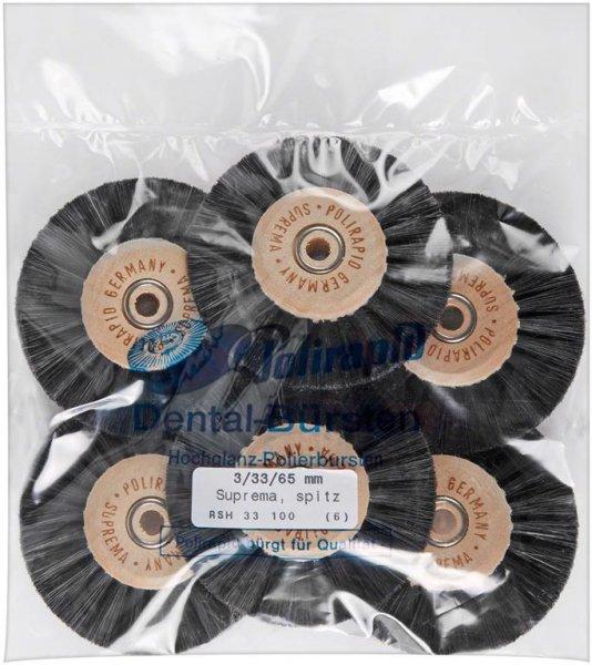 Super Bürste - Packung 6 Bürsten spitz, RSH 33 100 von Polirapid