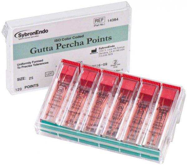 Standardized Gutta Percha - Packung 6 x 20 Stück ISO 025 von Kerr