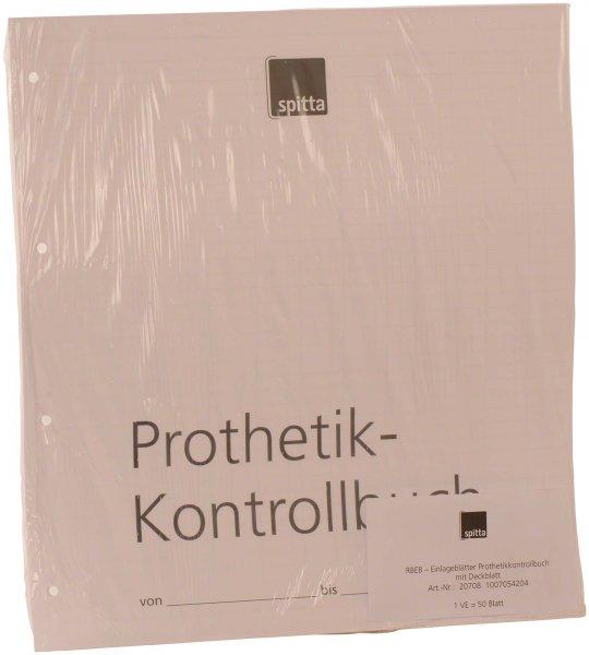 Einlageblatt - Packung 50 Blatt Prothetik-Kontrollbuch von Spitta Verlag