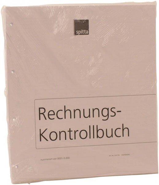 Einlageblatt - Packung 140 Blatt Rechnungs-Kontrollbuch nummeriert (0001-50 ... von Spitta Verlag