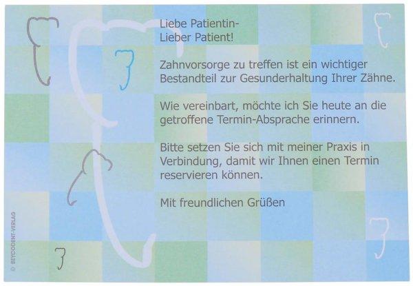 Zahnvorsorge-Karten - Packung 100 Karten Nr. 503 von Beycodent