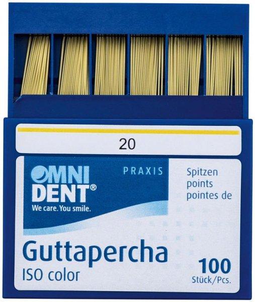 Guttaperchaspitzen - Packung 100 Stück ISO 020 von OMNIDENT