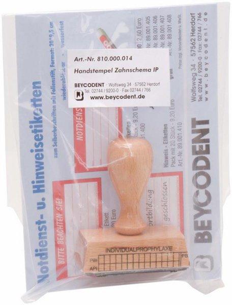 IP-Stempel - Stück Holz von Beycodent