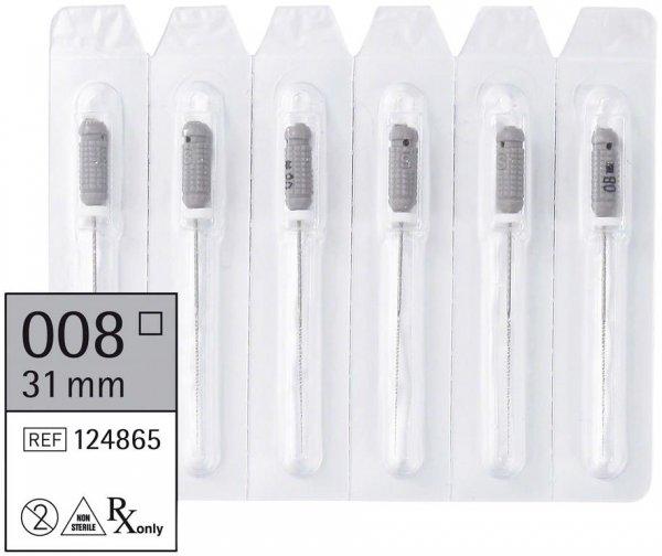 smart K-Feilen - Packung 6 Stück 31 mm ISO 008 von smartdent