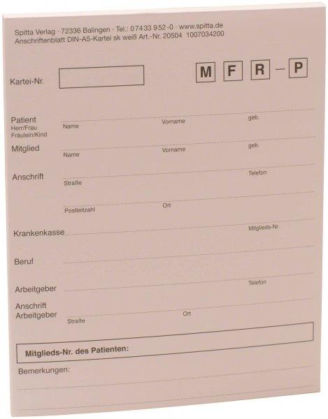 Adressaufkleber DIN A5 - Block 50 Aufkleber weiß von Spitta Verlag