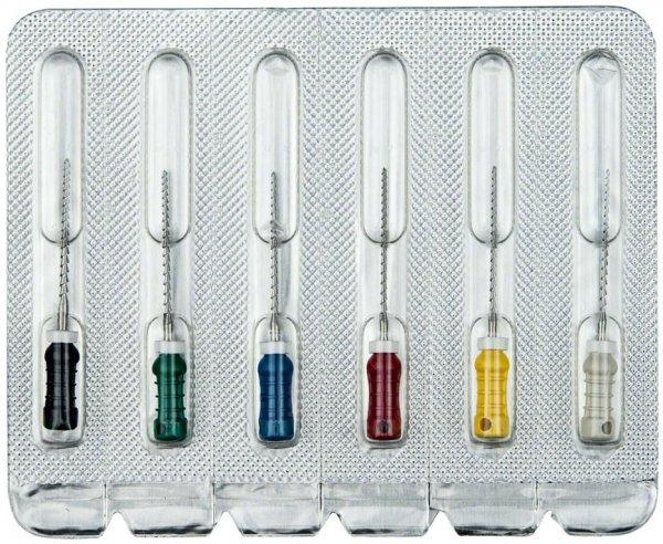 Hedstroemfeilen - Sortiment 6 Stück 21 mm ISO 045-080 von OMNIDENT