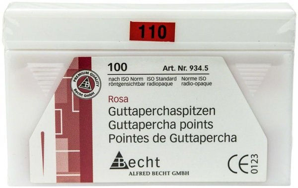 Guttaperchaspitzen rosa - Packung 100 Stück ISO 110 von Becht