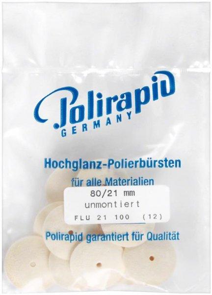 Filzkörper - Packung 12 Filzkörper FLU 21 100, unmontiert von Polirapid