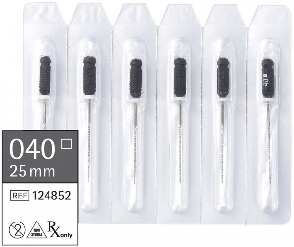 smart K-Feilen - Packung 6 Stück 25 mm ISO 040 von smartdent