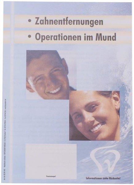 Patienten-Info Zahnentfernungen - Packung 100 Flyer von Beycodent