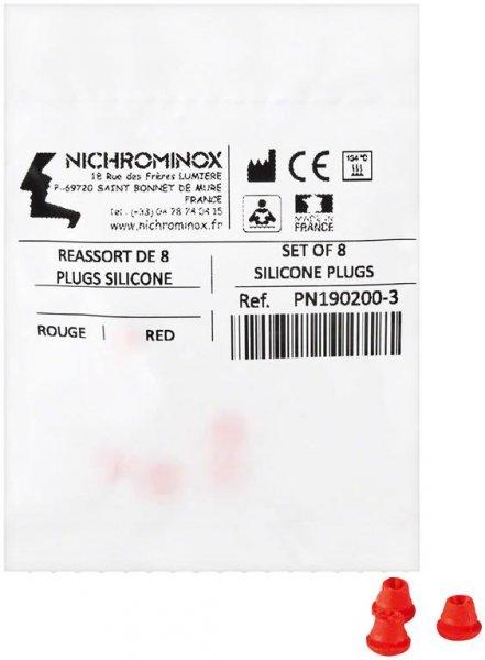 Silikon-Einsätze - Packung 8 Einsätze rot von NICHROMINOX
