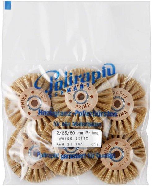Prima Bürste - Packung 6 Bürsten RWH 21 100 von Polirapid