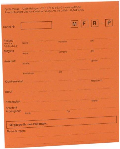 Adressaufkleber DIN A5 - Block 50 Aufkleber orange von Spitta Verlag