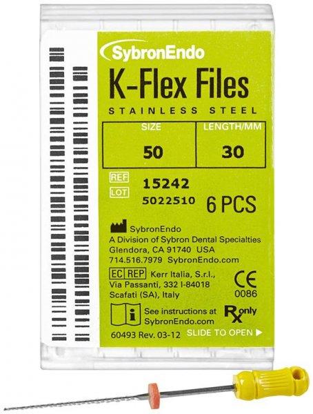 K-Flex Files - Packung 6 Feilen 30 mm ISO 050 von SybronEndo