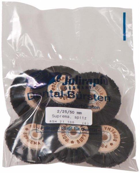 Super Bürste - Packung 6 Bürsten spitz, RSH 21 100 von Polirapid