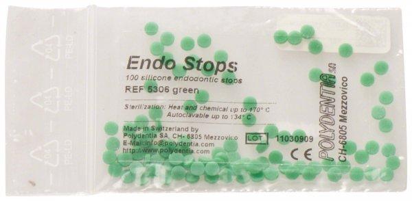 Endo Stops - Packung 100 Stück grün von Polydentia SA