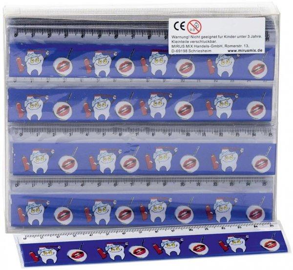 Lineale - Displaybox 60 Lineale mit Mundspiegel- und Zahnmotiven, 15 c ... von MirusMix