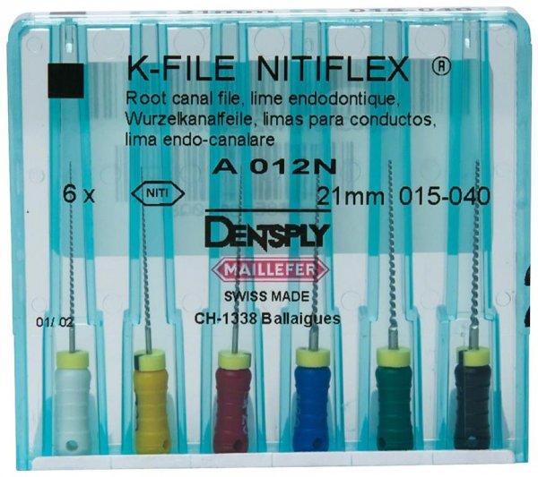 File NiTiflex - Sortiment 6 Stück 21 mm ISO 015-040 von Dentsply Sirona