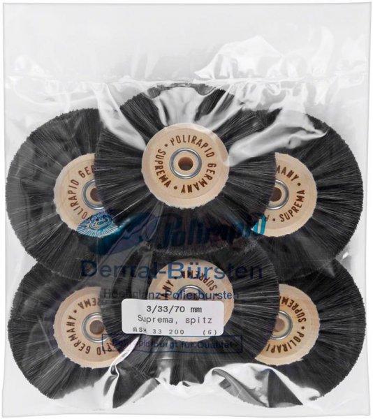 Super Bürste - Packung 6 Bürsten spitz, RSH 33 200 von Polirapid