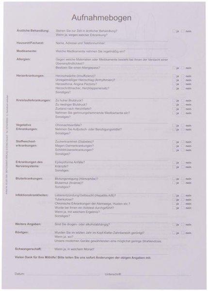 Anmeldebogen A4 - Block 100 Bögen von Beycodent