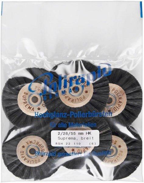 Super Bürste - Packung 6 Bürsten breit, RSH 22 110 von Polirapid