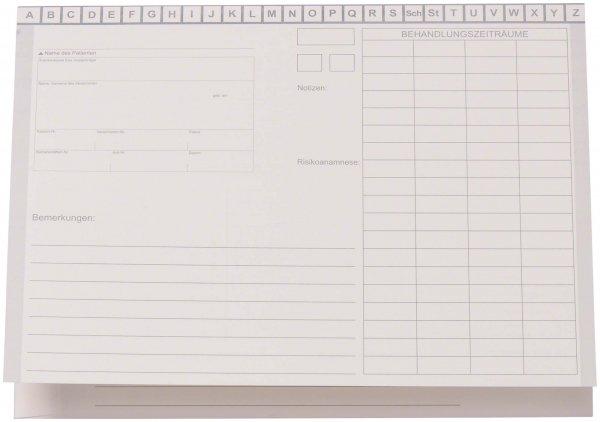 Karteimappe A5/D70 - Packung 100 Mappen weiß ohne Heftzunge von Beycodent