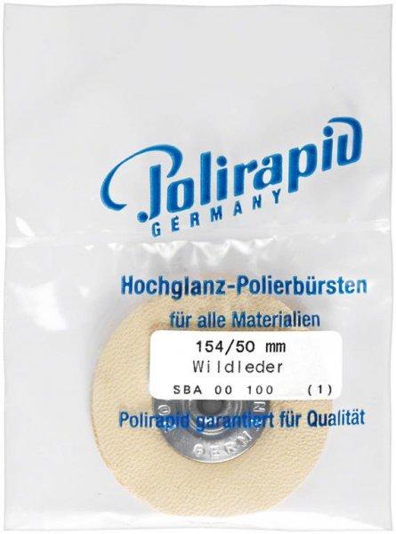 Schmalbürste - Stück Bürste mit Aluzentrum, Wildleder, Ø 50 mm von Polirapid