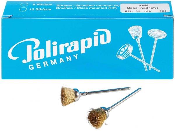 Kelchbürsten - Packung 6 Bürsten, Messingdraht von Polirapid