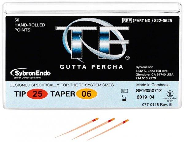 TF™ Guttapercha - Packung 100 Stück Taper.06, ISO 025 von Kerr